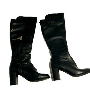 Forever 21 Black Tall Heeled Boots Size 9